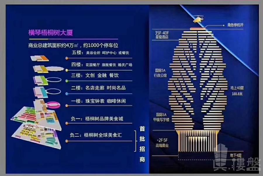 梧桐樹大廈_珠海|橫琴第一地標 頂級豪華|口岸地鐵物業 (實景航拍)