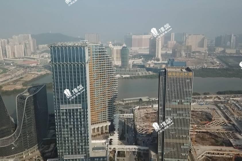 橫琴總部大廈|橫琴鐵路雙關口金融商業中心 (實景航拍)