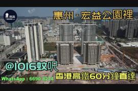 宏益公園裡_惠州|@1016蚊呎|香港高鐵60分鐘直達|香港銀行按揭(實景航拍)