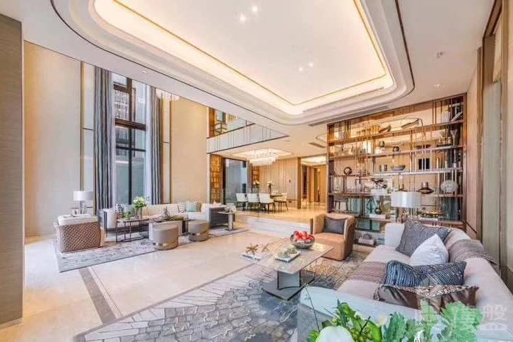 華發觀山水別墅_中山 買一層送兩層 200萬 香港銀行按揭 (實景航拍)