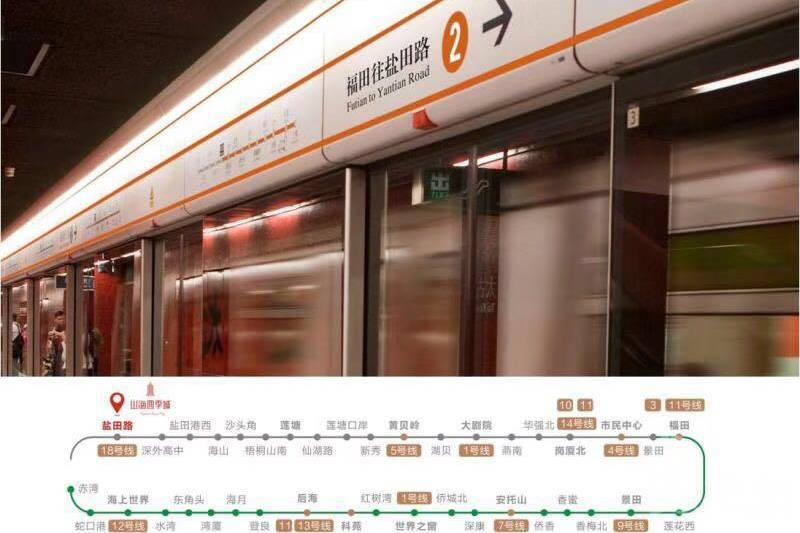 山海四季城王座_深圳|鐵路沿線|香港銀行按揭 (實景航拍)