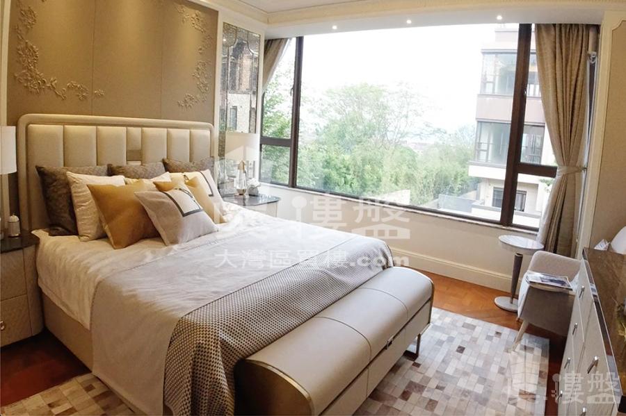 華發觀山水別墅_中山 總價200萬 買二層用四層 香港銀行按揭 (實景航拍)
